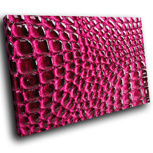 AB254 Framed Canvas Print Colourful Modern Abstract Wall Art - Red Pink Pattern Cool-Canvas Print-WhatsOnYourWall
