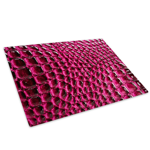 Red Pink Pattern Cool Glass Chopping Board Kitchen Worktop Saver Protector - AB254-Abstract Chopping Board-WhatsOnYourWall
