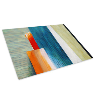Blue Orange Green Glass Chopping Board Kitchen Worktop Saver Protector - AB262-Abstract Chopping Board-WhatsOnYourWall
