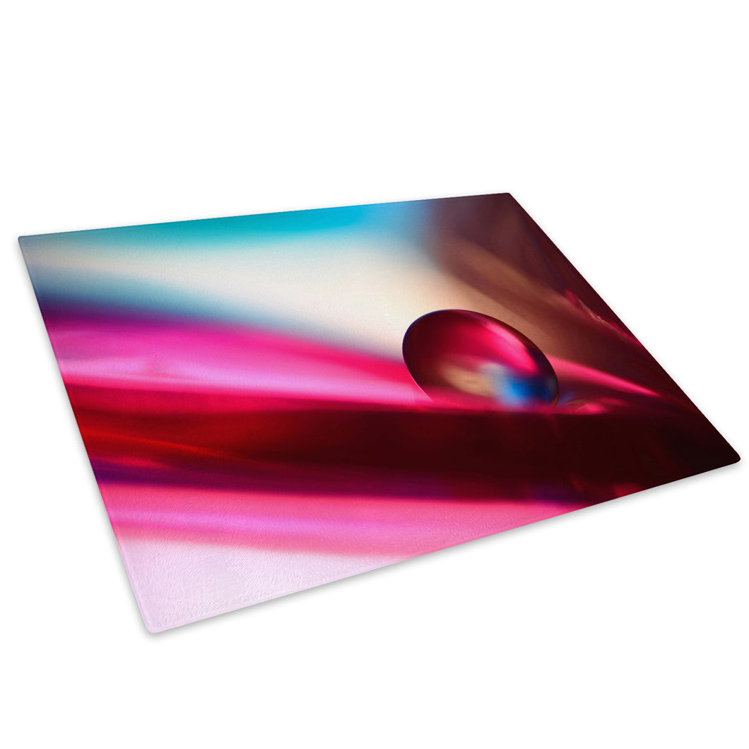 Pink Blue Marble Cool Glass Chopping Board Kitchen Worktop Saver Protector - AB267-Abstract Chopping Board-WhatsOnYourWall