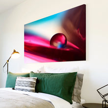 AB267 Framed Canvas Print Colourful Modern Abstract Wall Art - Pink Blue Marble Cool-Canvas Print-WhatsOnYourWall