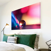 AB268 Framed Canvas Print Colourful Modern Abstract Wall Art - Blue Pink Marble Cool-Canvas Print-WhatsOnYourWall