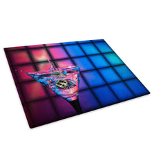 AB276 Framed Canvas Print Colourful Modern Abstract Wall Art -  Pink Blue Cocktails - WhatsOnYourWall
