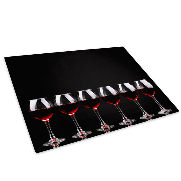 Black Red Wine Cool Glass Chopping Board Kitchen Worktop Saver Protector - AB281-Abstract Chopping Board-WhatsOnYourWall