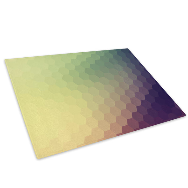 Purple Green Yellow Glass Chopping Board Kitchen Worktop Saver Protector - AB284-Abstract Chopping Board-WhatsOnYourWall