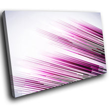 AB287 Framed Canvas Print Colourful Modern Abstract Wall Art -  Pink Black Lines Cool - WhatsOnYourWall