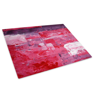 Purple Pink Red White Glass Chopping Board Kitchen Worktop Saver Protector - AB291-Abstract Chopping Board-WhatsOnYourWall