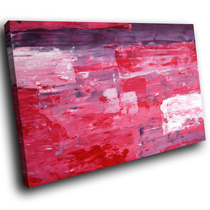 AB291 Framed Canvas Print Colourful Modern Abstract Wall Art - Purple Pink Red White-Canvas Print-WhatsOnYourWall