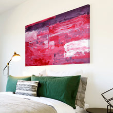 AB291 Framed Canvas Print Colourful Modern Abstract Wall Art -  Purple Pink Red White - WhatsOnYourWall