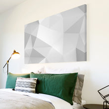 AB295 Framed Canvas Print Colourful Modern Abstract Wall Art - White Grey Geometric-Canvas Print-WhatsOnYourWall