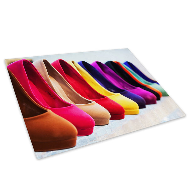 Colourful High Heel Glass Chopping Board Kitchen Worktop Saver Protector - AB296-Abstract Chopping Board-WhatsOnYourWall