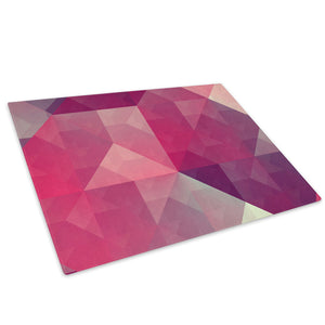 Pink Grey Geometric Glass Chopping Board Kitchen Worktop Saver Protector - AB300-Abstract Chopping Board-WhatsOnYourWall