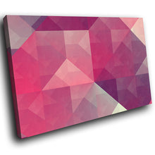AB300 Framed Canvas Print Colourful Modern Abstract Wall Art - Pink Grey Geometric-Canvas Print-WhatsOnYourWall