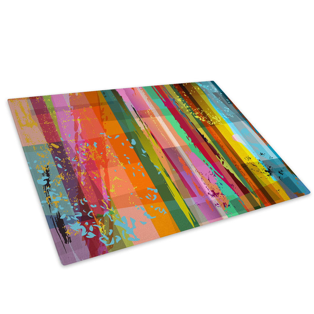 Colourful Cool Funky Glass Chopping Board Kitchen Worktop Saver Protector - AB310-Abstract Chopping Board-WhatsOnYourWall