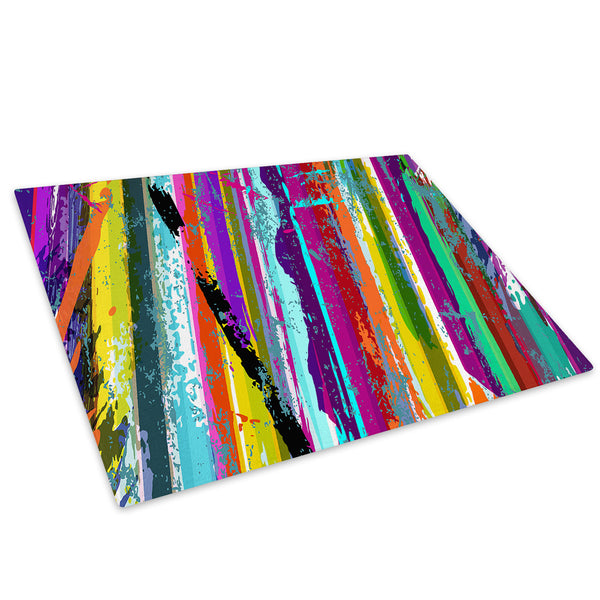 Colourful Cool Funky Glass Chopping Board Kitchen Worktop Saver Protector - AB314-Abstract Chopping Board-WhatsOnYourWall