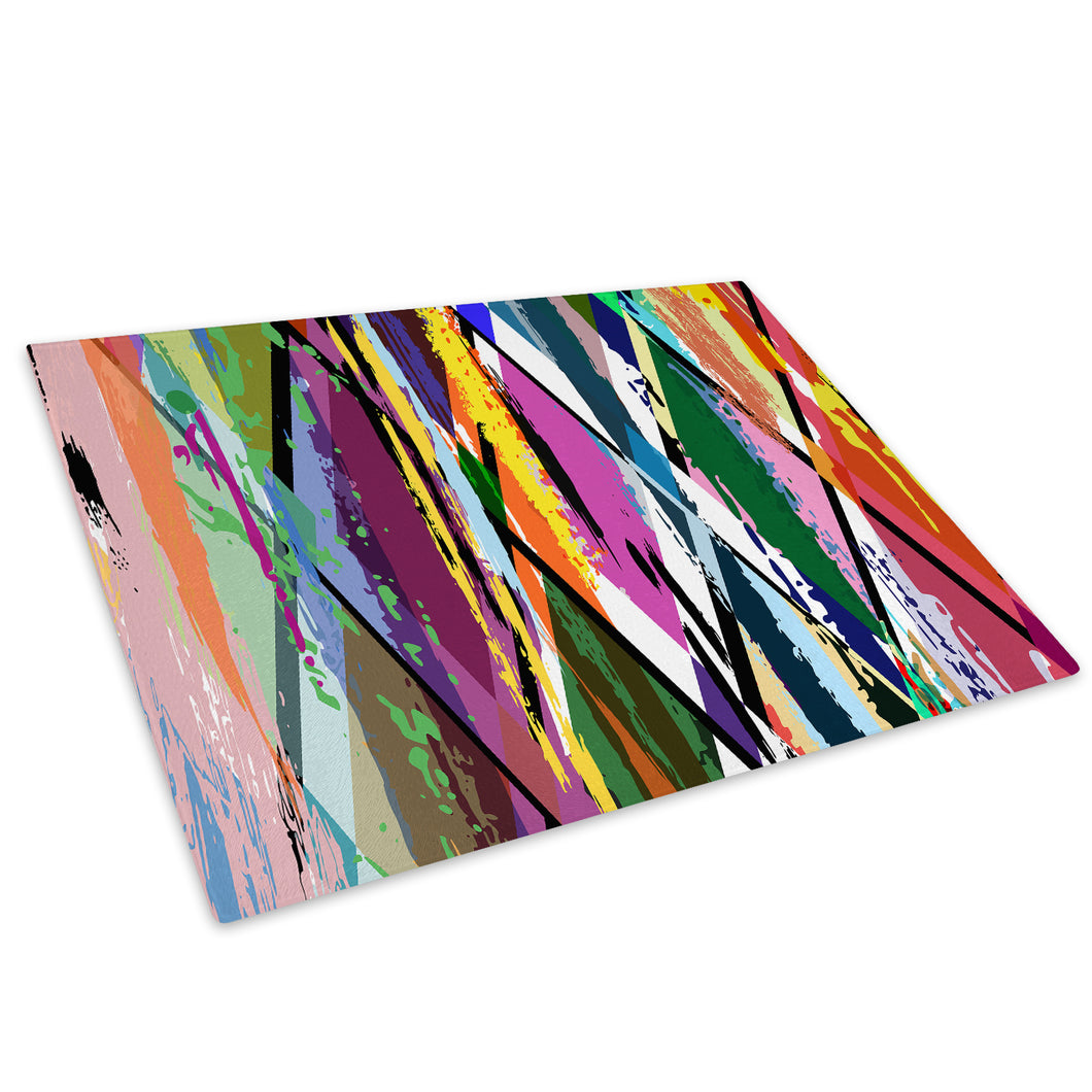 Colourful Cool Funky Glass Chopping Board Kitchen Worktop Saver Protector - AB319-Abstract Chopping Board-WhatsOnYourWall
