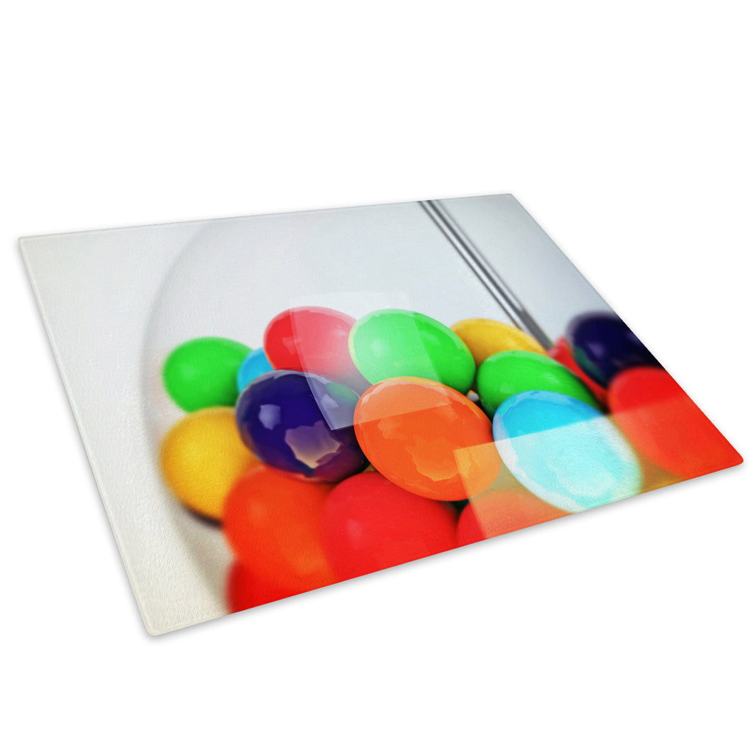Colourful Cool Funky Glass Chopping Board Kitchen Worktop Saver Protector - AB327-Abstract Chopping Board-WhatsOnYourWall