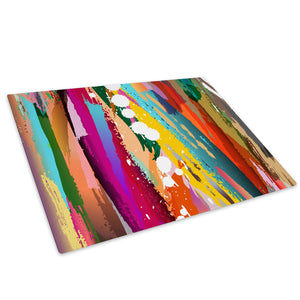 Colourful Cool Funky Glass Chopping Board Kitchen Worktop Saver Protector - AB330-Abstract Chopping Board-WhatsOnYourWall