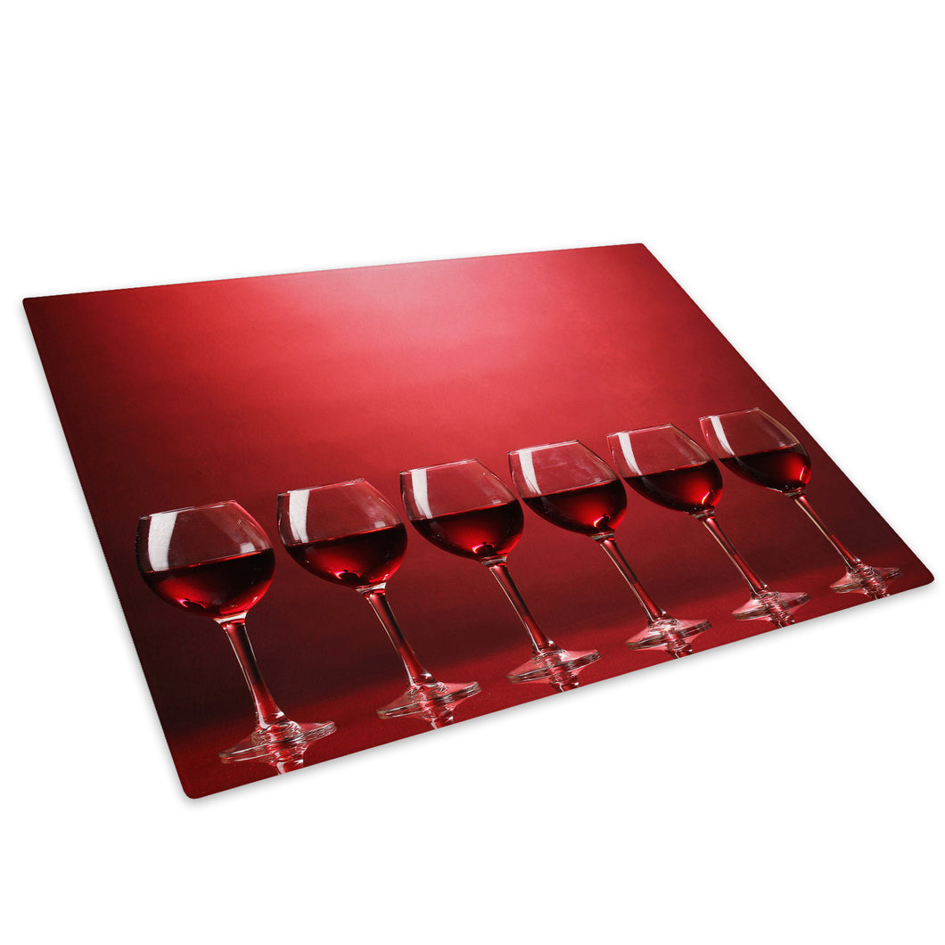 Red Wine Cool Funky Glass Chopping Board Kitchen Worktop Saver Protector - AB331-Abstract Chopping Board-WhatsOnYourWall