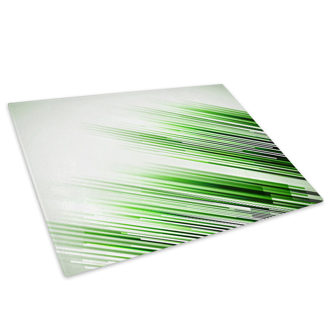 Green Black White Glass Chopping Board Kitchen Worktop Saver Protector - AB333-Abstract Chopping Board-WhatsOnYourWall
