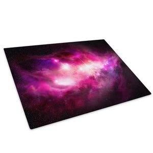 Pink Black Stars Cool Glass Chopping Board Kitchen Worktop Saver Protector - AB345-Abstract Chopping Board-WhatsOnYourWall
