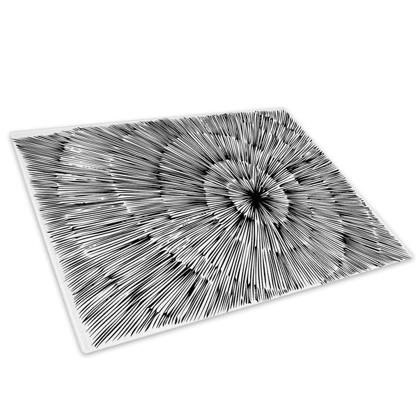 Black White Grey Cool Glass Chopping Board Kitchen Worktop Saver Protector - AB350-Abstract Chopping Board-WhatsOnYourWall