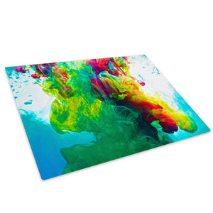 Colourful Cool Funky Glass Chopping Board Kitchen Worktop Saver Protector - AB352-Abstract Chopping Board-WhatsOnYourWall
