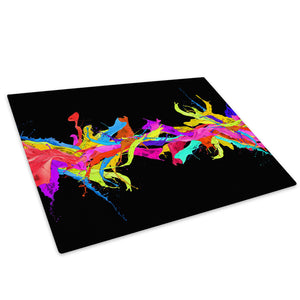 Colourful Cool Funky Glass Chopping Board Kitchen Worktop Saver Protector - AB354-Abstract Chopping Board-WhatsOnYourWall