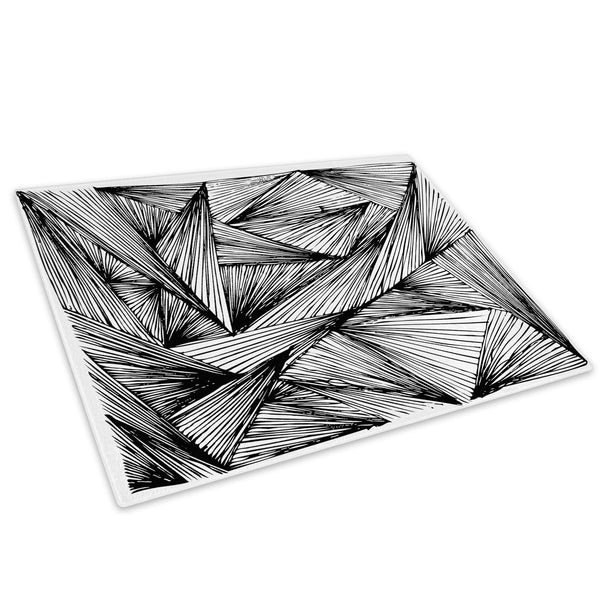 Black White Grey Cool Glass Chopping Board Kitchen Worktop Saver Protector - AB356-Abstract Chopping Board-WhatsOnYourWall