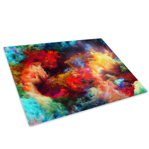 Colourful Stars Cool Glass Chopping Board Kitchen Worktop Saver Protector - AB362-Abstract Chopping Board-WhatsOnYourWall