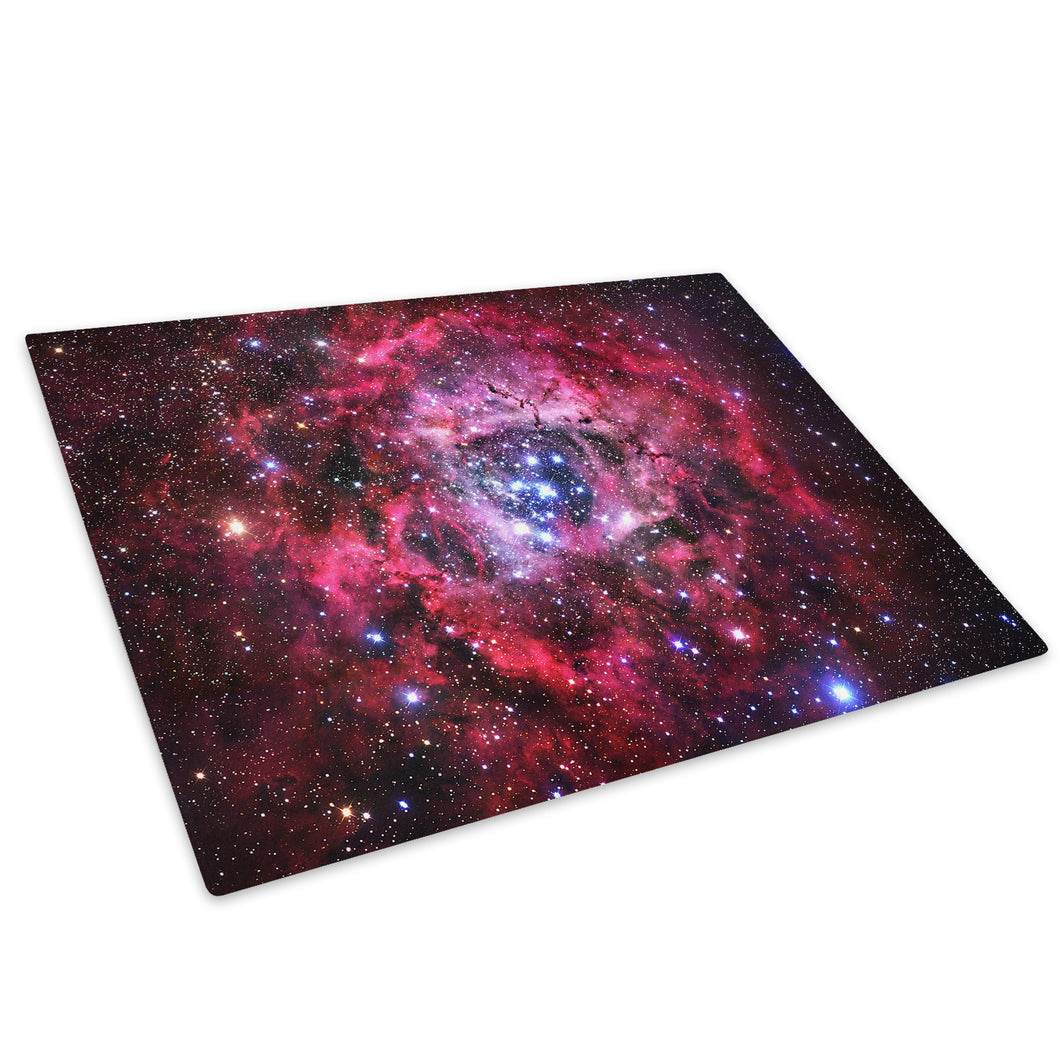 Red Pink Stars Cool Glass Chopping Board Kitchen Worktop Saver Protector - AB364-Abstract Chopping Board-WhatsOnYourWall