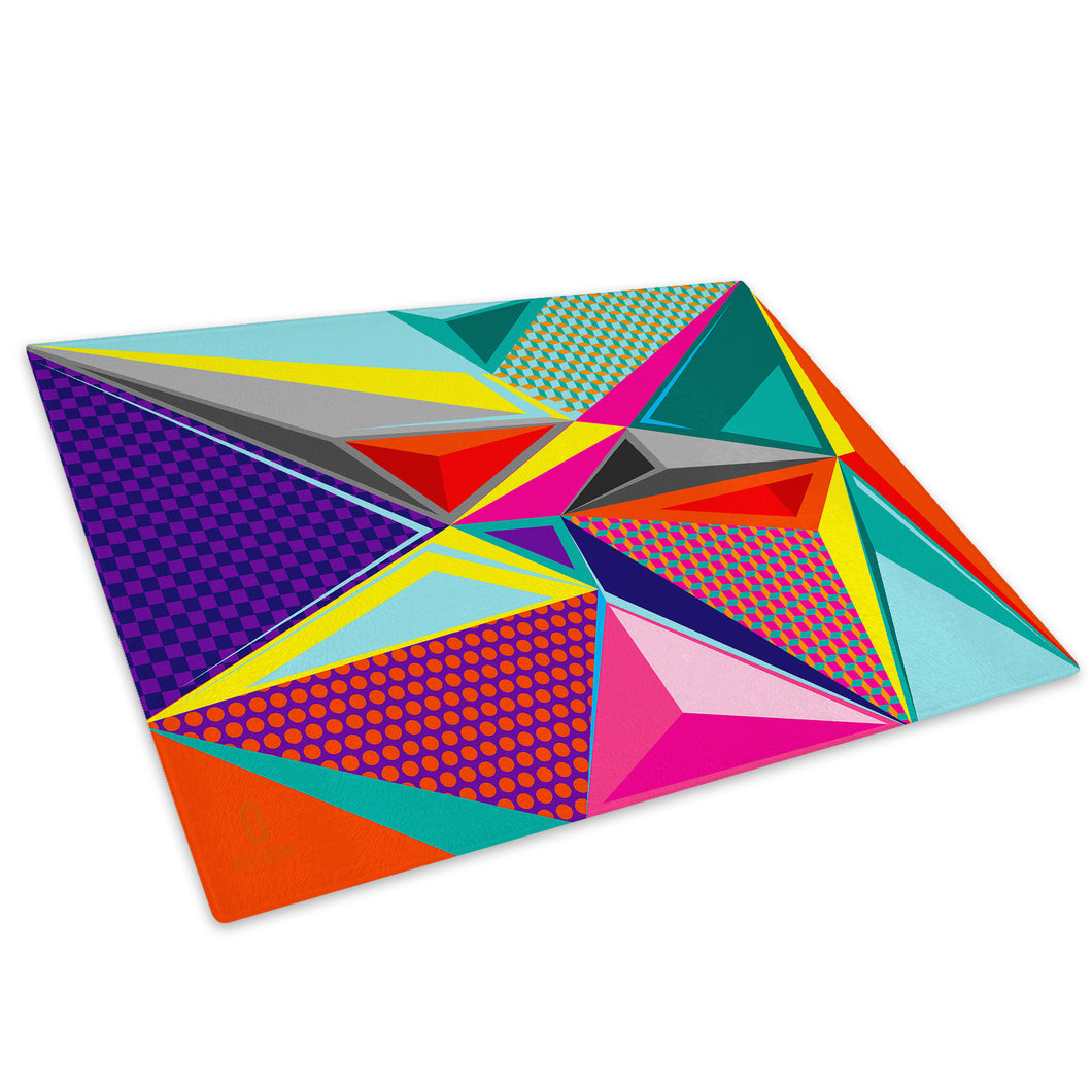 Colourful Cool Funky Glass Chopping Board Kitchen Worktop Saver Protector - AB366-Abstract Chopping Board-WhatsOnYourWall