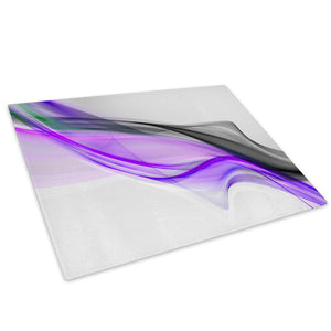 Purple Black Grey Glass Chopping Board Kitchen Worktop Saver Protector - AB374-Abstract Chopping Board-WhatsOnYourWall