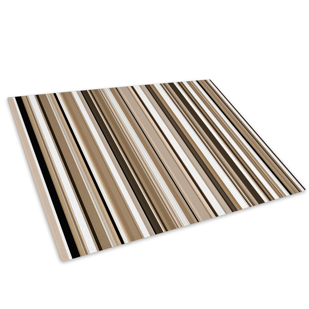 Brown White Black Glass Chopping Board Kitchen Worktop Saver Protector - AB381-Abstract Chopping Board-WhatsOnYourWall