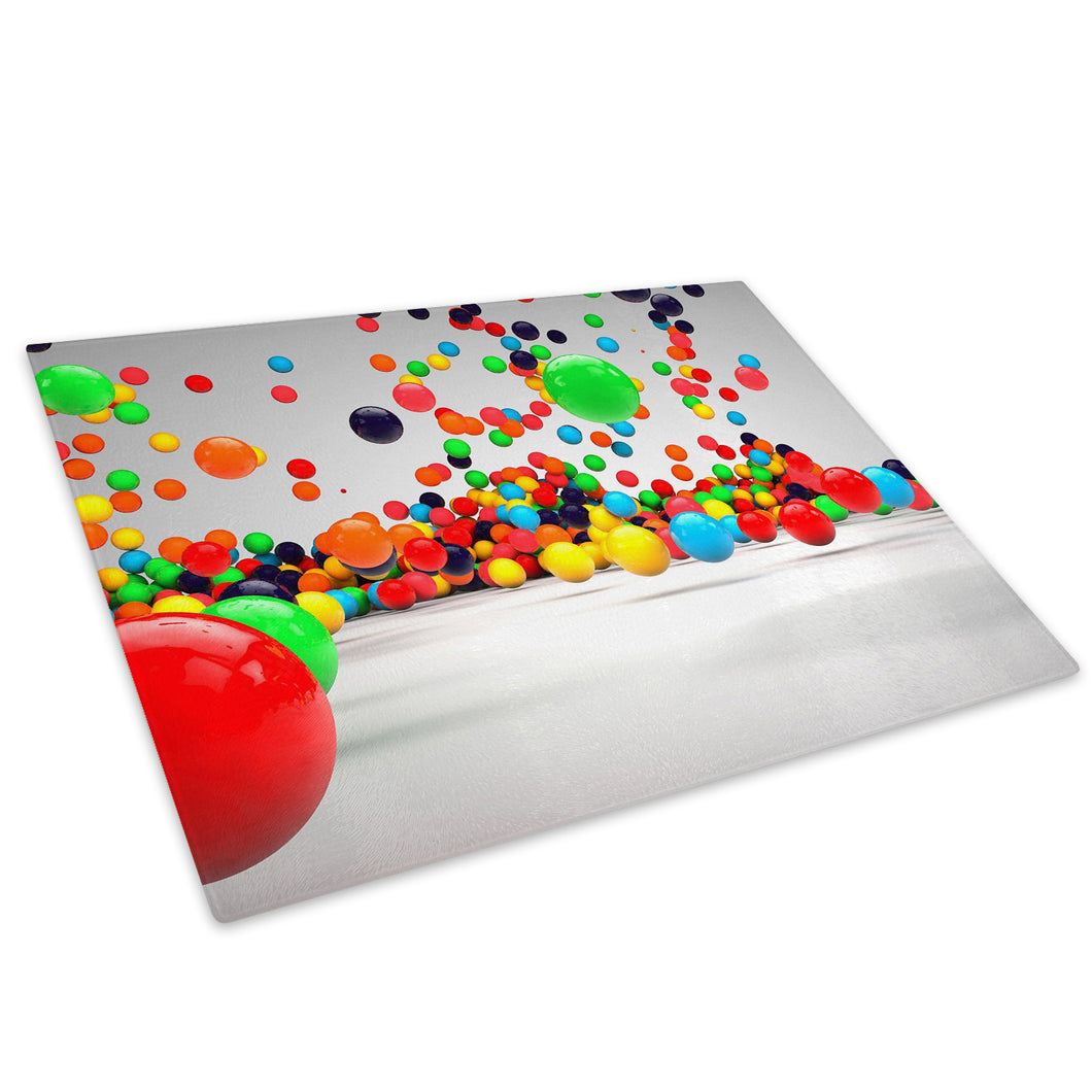 Colourful Cool Funky Glass Chopping Board Kitchen Worktop Saver Protector - AB396-Abstract Chopping Board-WhatsOnYourWall
