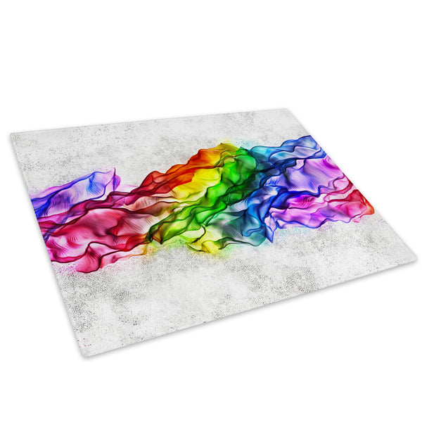 Retro Colourful Cool Glass Chopping Board Kitchen Worktop Saver Protector - AB398-Abstract Chopping Board-WhatsOnYourWall