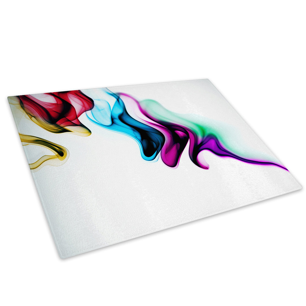 Retro Colourful Cool Glass Chopping Board Kitchen Worktop Saver Protector - AB399-Abstract Chopping Board-WhatsOnYourWall