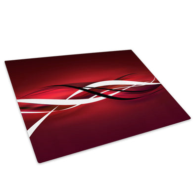 Red Black White Cool Glass Chopping Board Kitchen Worktop Saver Protector - AB403-Abstract Chopping Board-WhatsOnYourWall