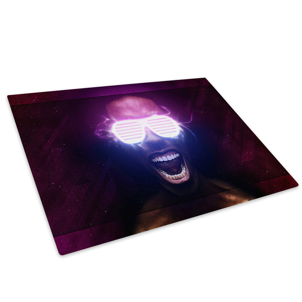 Pink Purple Black Glass Chopping Board Kitchen Worktop Saver Protector - AB420-Abstract Chopping Board-WhatsOnYourWall