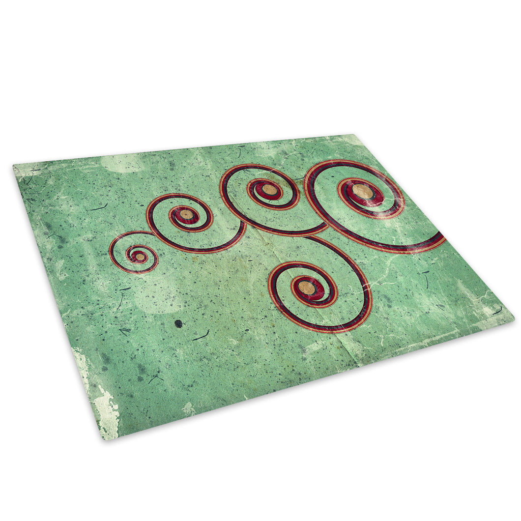 Retro Green Red Black Glass Chopping Board Kitchen Worktop Saver Protector - AB424-Abstract Chopping Board-WhatsOnYourWall