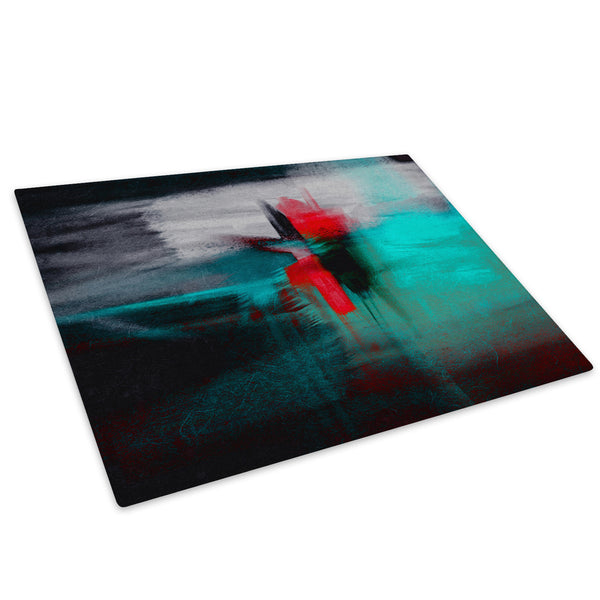 Blue Red Grey Black Glass Chopping Board Kitchen Worktop Saver Protector - AB428-Abstract Chopping Board-WhatsOnYourWall