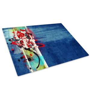 Colourful Cool Funky Glass Chopping Board Kitchen Worktop Saver Protector - AB429-Abstract Chopping Board-WhatsOnYourWall