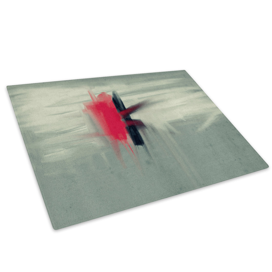 Red Black Grey Cool Glass Chopping Board Kitchen Worktop Saver Protector - AB430-Abstract Chopping Board-WhatsOnYourWall