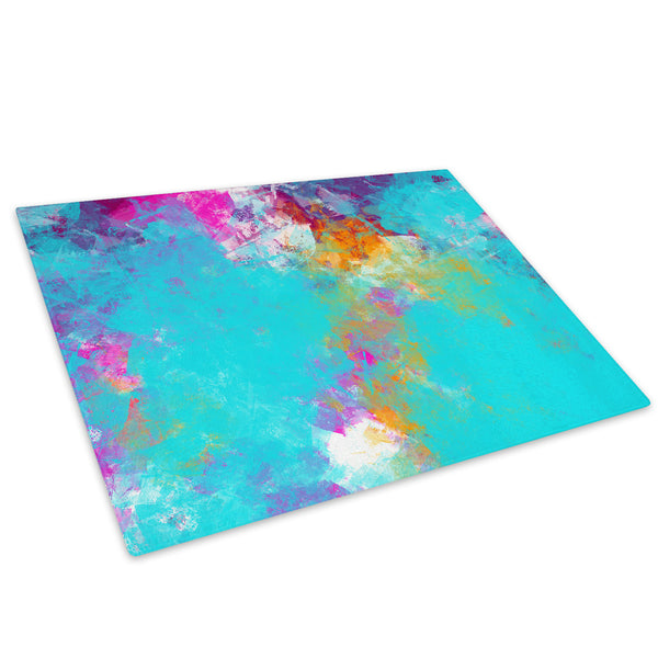Colourful Cool Funky Glass Chopping Board Kitchen Worktop Saver Protector - AB434-Abstract Chopping Board-WhatsOnYourWall