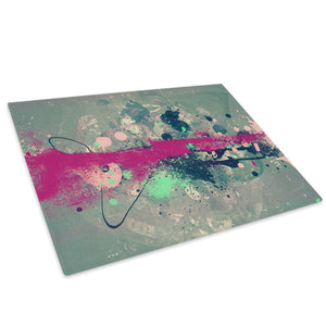 Pink Grey Blue Cool Glass Chopping Board Kitchen Worktop Saver Protector - AB438-Abstract Chopping Board-WhatsOnYourWall