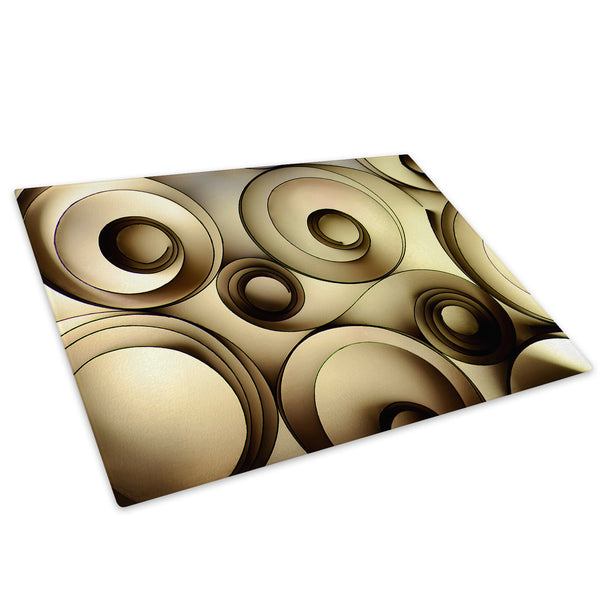 Brown Yellow Cool Glass Chopping Board Kitchen Worktop Saver Protector - AB443-Abstract Chopping Board-WhatsOnYourWall