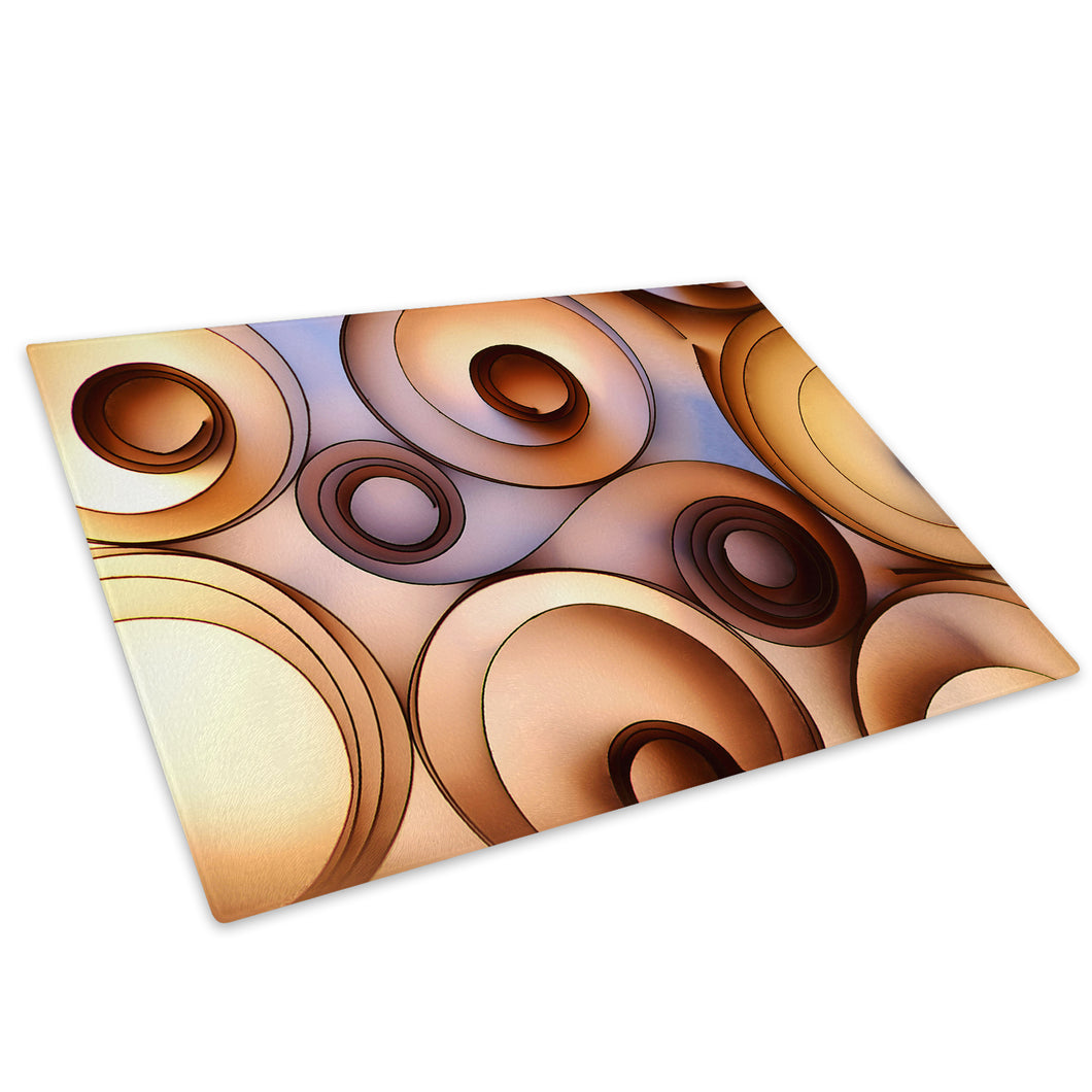 Brown Orange Cool Glass Chopping Board Kitchen Worktop Saver Protector - AB444-Abstract Chopping Board-WhatsOnYourWall
