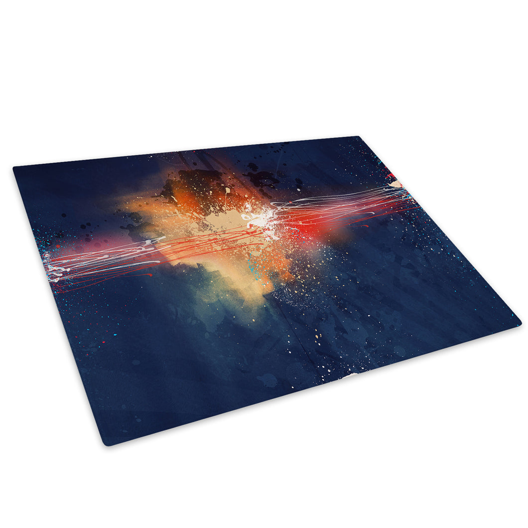 Colourful Retro Cool Glass Chopping Board Kitchen Worktop Saver Protector - AB448-Abstract Chopping Board-WhatsOnYourWall