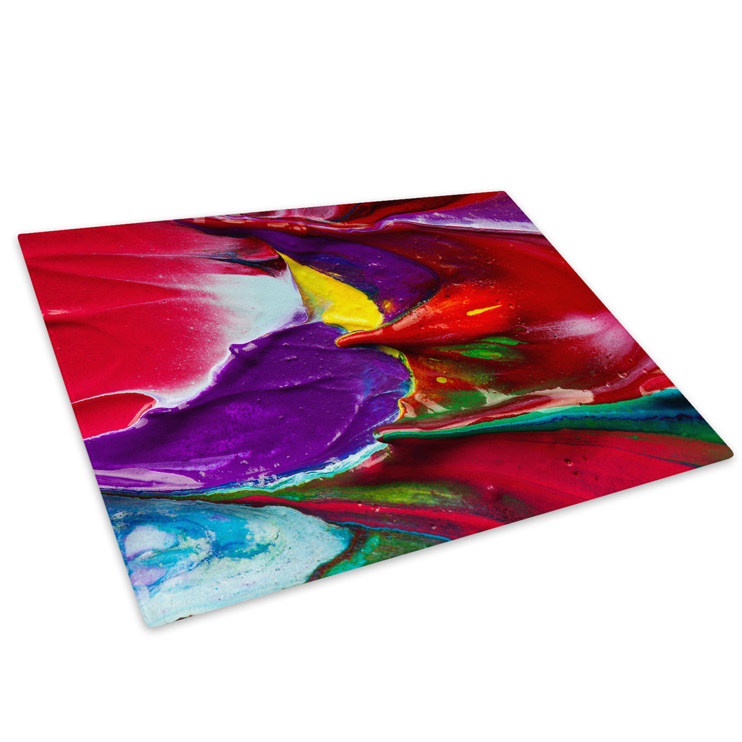 Colourful Retro Cool Glass Chopping Board Kitchen Worktop Saver Protector - AB450-Abstract Chopping Board-WhatsOnYourWall