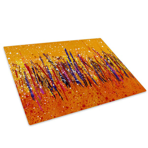 Colourful Retro Cool Glass Chopping Board Kitchen Worktop Saver Protector - AB457-Abstract Chopping Board-WhatsOnYourWall